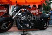 Harley Davidson Matte Black Motorcycle