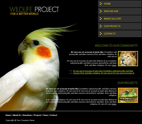 Product picture Wildlife Website Template